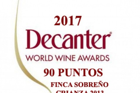 Finca Sobreño Crianza 2013 receives 90 points at the renowned 'Decanter' competition